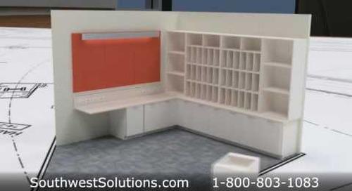 Modular Casework Cabinets Reusable Base & Upper Cabinets Environmentally Friendly