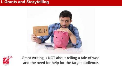 Tips for Telling and Selling! Your Story in Grant Applications