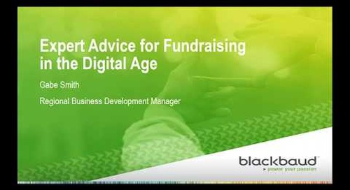 Expert Advice for Fundraising in the Digital Age