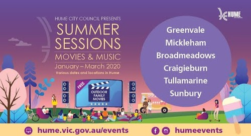 Hume City Council presents Summer Sessions Movies and Music 2020