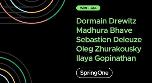 Madhura Bhave, Sébastien Deleuze, Oleg Zhurakousky, Ilayaperumal Gopinathan at SpringOne 2020