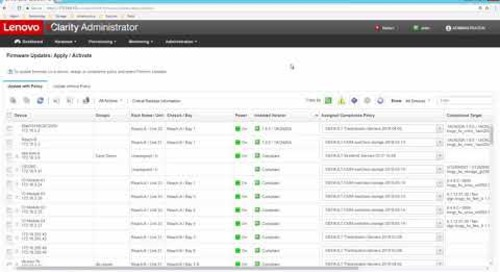 Lenovo XClarity Administrator Firmware Updates