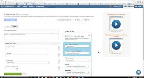 Easy Projects Master Class Webinar:  New and Improved Custom Forms