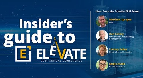 Insider's Guide to Elevate 2021