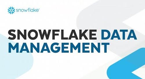 Webinar: Snowflake Data Management