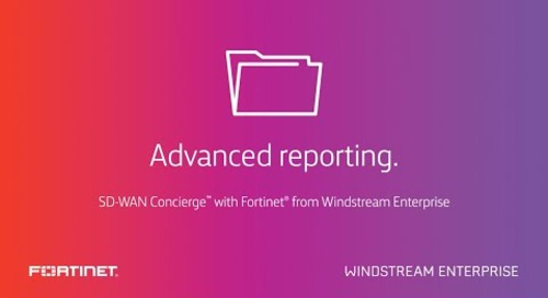 SD-WAN Concierge™ with Fortinet from WE: Advanced reporting. Actionable insights.