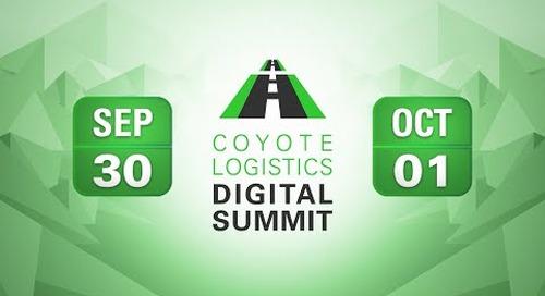 Coyote Logistics Digital Summit: September 30 and October 1