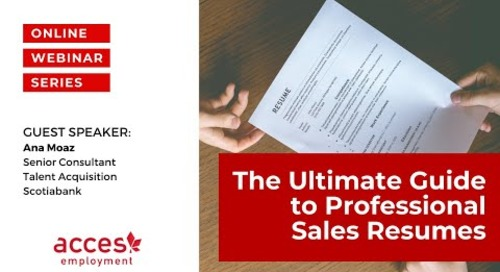 The Ultimate Guide to Professional Sales Resumes – Creating Impact