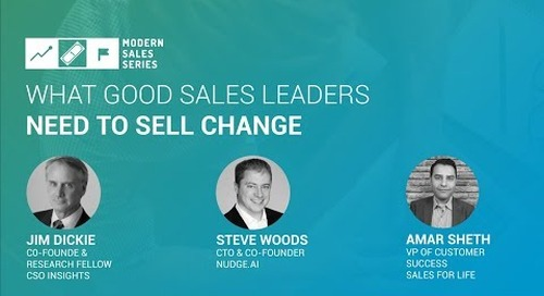 What Good Sales Leaders Need To Sell Change