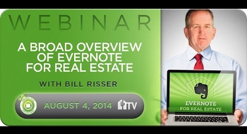 Evernote Webinar #1 - A Broad Overview 8.4.2014