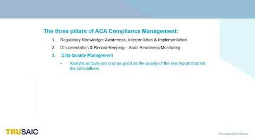 What are the Three Pillars of ACA Compliance Management - Webinar - Trusaic