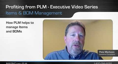 Profiting from PLM with Item and BOM Management