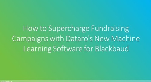 Dataro   How to Supercharge Fundraising Campaigns with Dataro's New Machine Learning Software