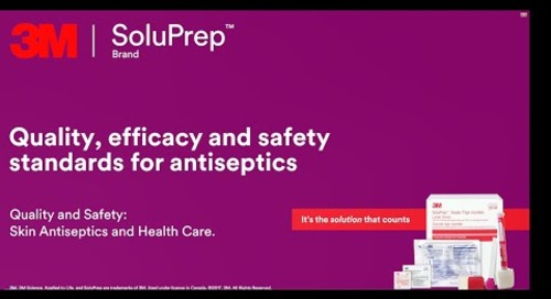 Quality, efficacy and safety standards for antiseptics
