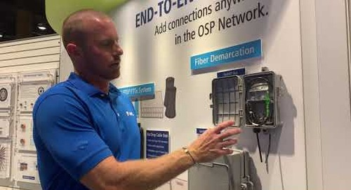 Will at Fiber Connect 2019 talking OptiNID® Duo