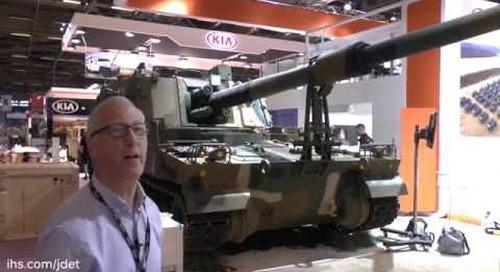 Eurosatory 2016: Republic of Korea K9 'Thunder' 155mm/K9 52 calibre SP artillery system