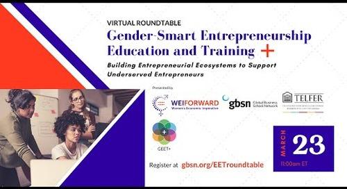 Table ronde virtuelle - Éducation et formation à l'entrepreneuriat plus sensible au genre