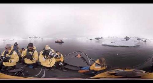 Antarctica: Marine Biologist Christian Geissler talks leopard seals (360° VR)