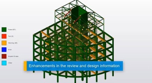 Design Status Enhancements in Tekla Structural Designer