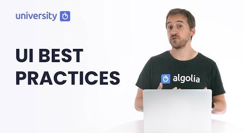 Algolia Build 201 - UI Best Practices