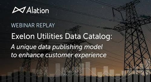 Exelon Utilities Data Catalog