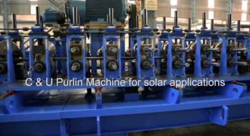 Samco Purlin Rollforming Line for Solar Profiles
