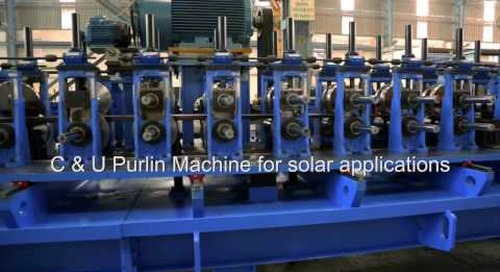 Samco Purlin Rollforming Line for Solar Profiles