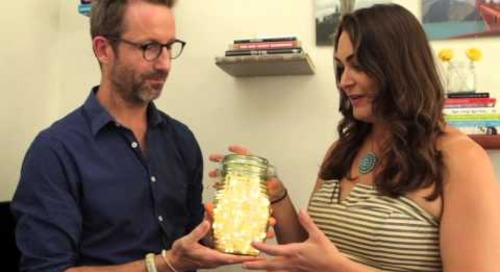 One Minute Tips: How To Make A Firefly Jar Lamp (with Giverny Petitmermet)
