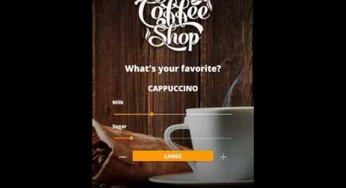 Qt Quick Controls 2 - Coffee machine demo