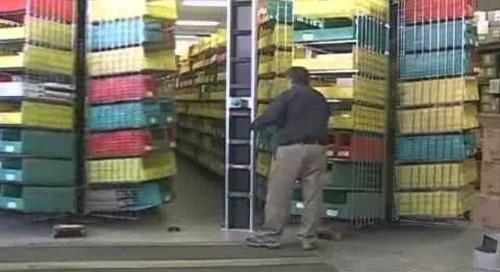 Horizontal Carousel Spinning Storage Shelves for Materials Management