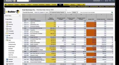 e-Builder: Integrated Cost Management for Construction Programs