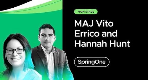 MAJ Vito Errico and Hannah Hunt at SpringOne 2021