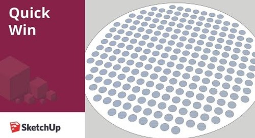 [Quick Win] Creating a perforated surface in SketchUp