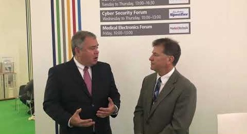 Rich Nass talks security with Data I/O CEO Anthony Ambrose at electronica 2018