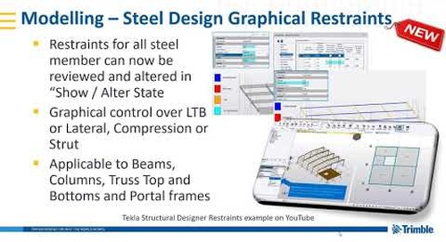 Restraints in Tekla Structural Designer 2019i