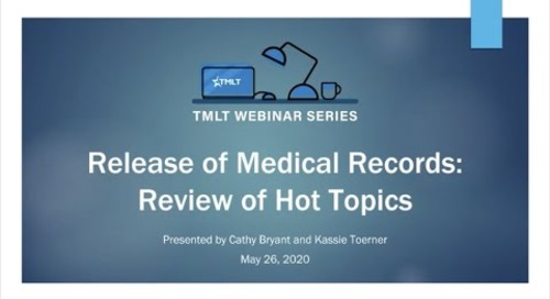 Release of medical records: Review of hot topics