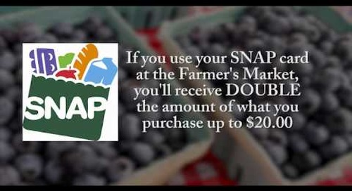 Bristol Tennessee Farmer's Market SNAP Double Program