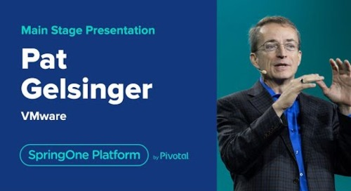 Pat Gelsinger, James Watters, Cornelia Davis at SpringOne Platform 2019