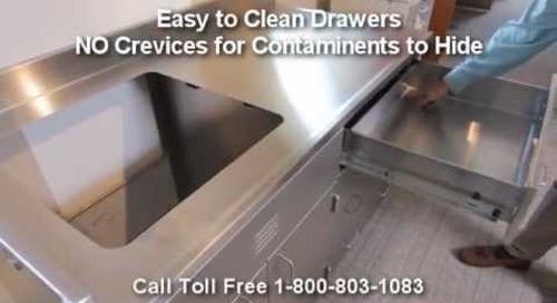 Stainless Steel Lab Casework | Metal Laboratory Cabinets | Modular Hospital Medical Casework