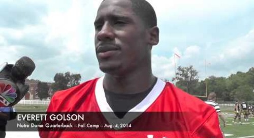 Everett Golson - Notre Dame - Day 1 Of Fall Camp (8/4/14)