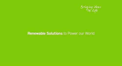 Renewable Solutions to Power our World