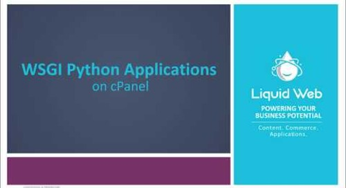 Installing Python WSGI Applications on cPanel