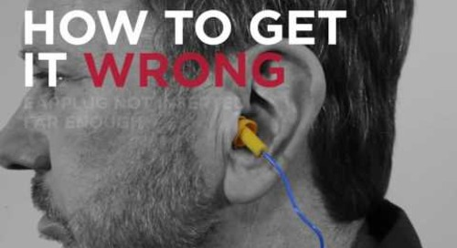 How to use reusable ear plugs.