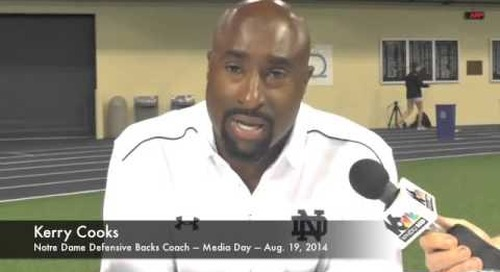 Notre Dame DB Coach Kerry Cooks - Media Day 2014