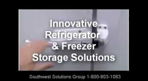 High Density Refrigerated Shelving Storage