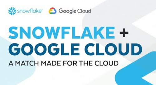 Snowflake + Google Cloud: A Match Made in the Cloud