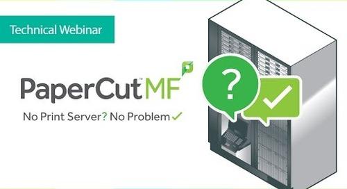 PaperCut MF Serverless Pull Printing Solution