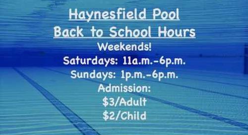 Pool Hours Doggie Swim