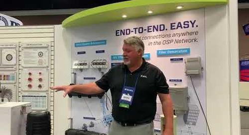 Pat talking the new Apex® splice closure at ISE 2021