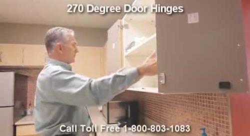 Full Opening Cabinet Door Hinges with 270 Degree Hinged Doors | Modular Casework Doors